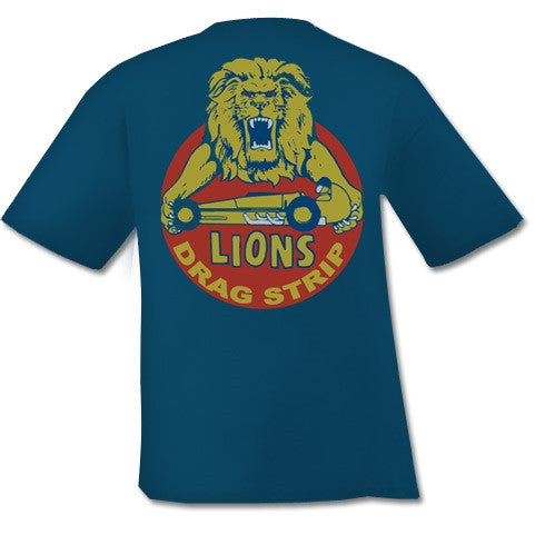 PKK Mens T-shirt - Lions Drag Strip Harbor Blue poisonKandyKlothing