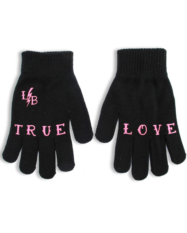 "LiquorBrand Gloves with wording ""True Love"""