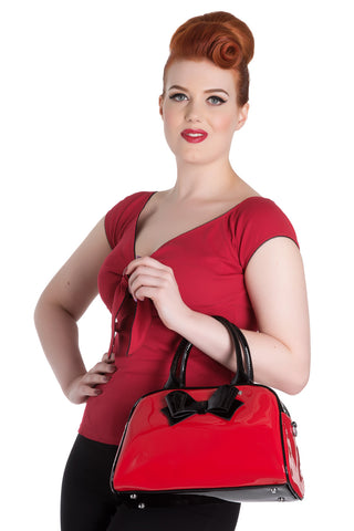 Ladies Handbag - Hellbunny Lola Red/Blk|Poisonkandyklothing