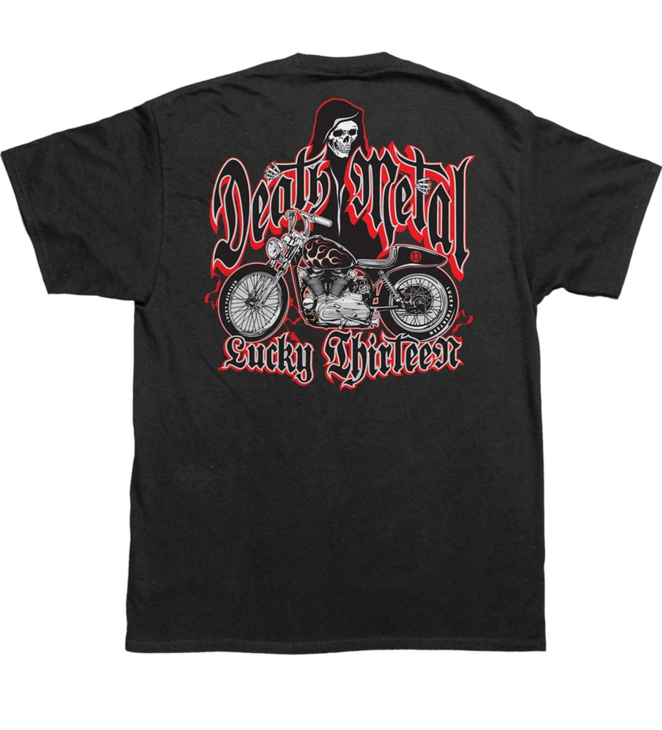 Lucky 13 - Mens S/S Tee Death Metal|Poisonkandyklothing
