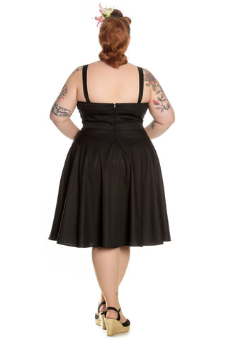 Hell Bunny - Lulu Dress Blk Red Buttons & Cherries|Poisonkandyklothing