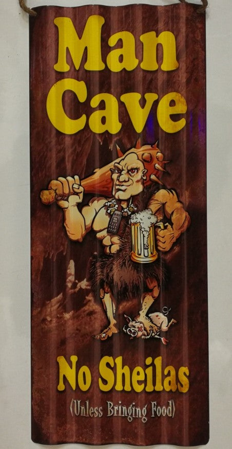 Man Cave - Corrugated Tin Sign