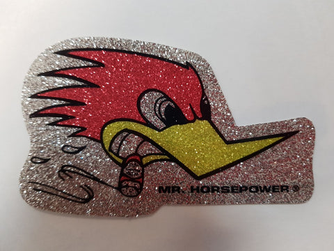 Mr. Horsepower Metal Flake Sticker