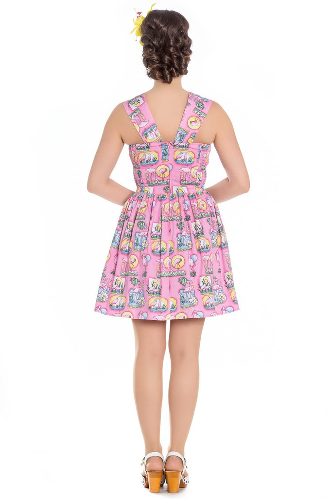 Hell Bunny - Maxine Mini Dress Pink|Poisonkandyklothing