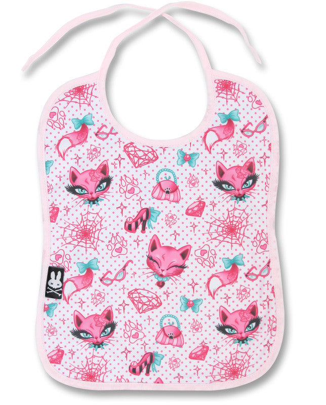Six Bunnies Baby Bib - Miss Kitty|Poisonkandyklothing
