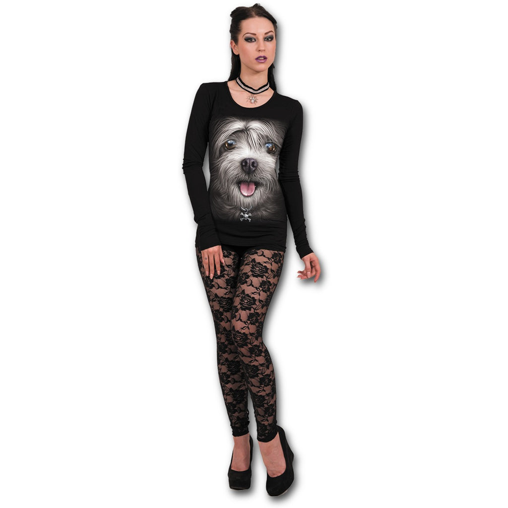 Ladies Top - MISTY EYES - Baggy Top Black poison Kandy Klothing