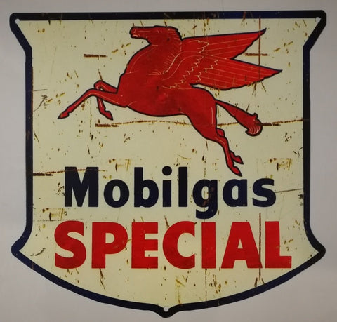 Tin Sign - Mobil special Shield