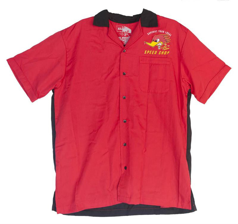 Mr Horsepower Support local speed shop mens button up bowler front view