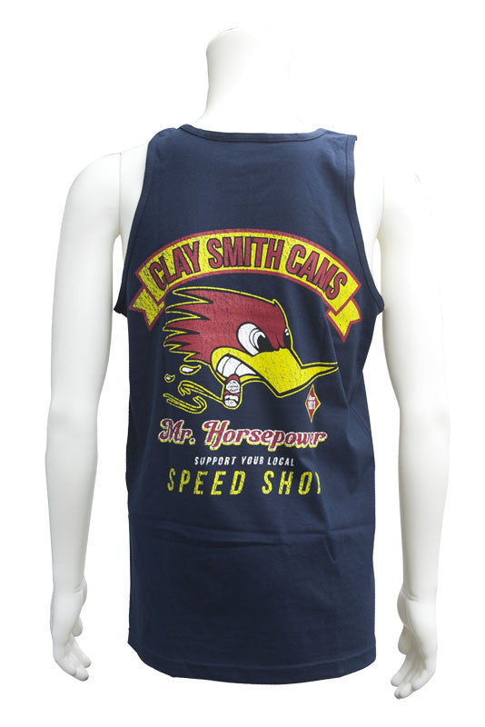 Mr. Horsepower Support your speed shop Tank Navy
