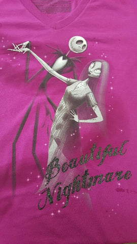 Ladies T-shirt - Nightmare Before Christmas Beautiful Nightmare