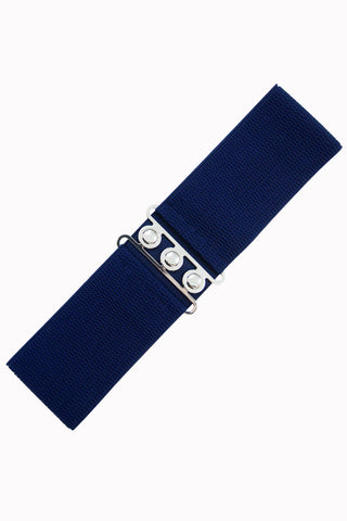 Banned Clothing - Ladies Belt Vintage Stretch Navy