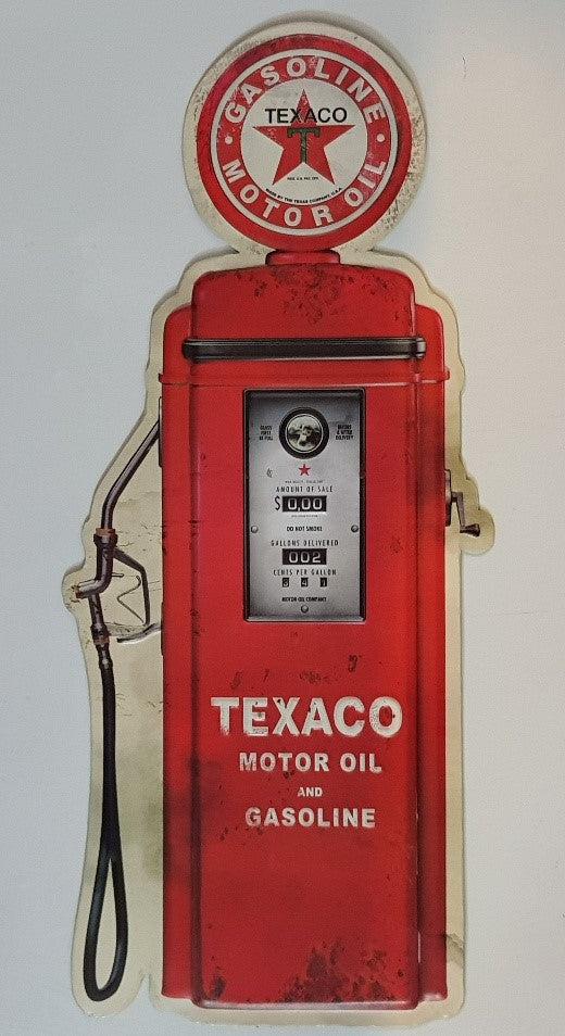 Tin Sign Embossed - Texaco Bowser