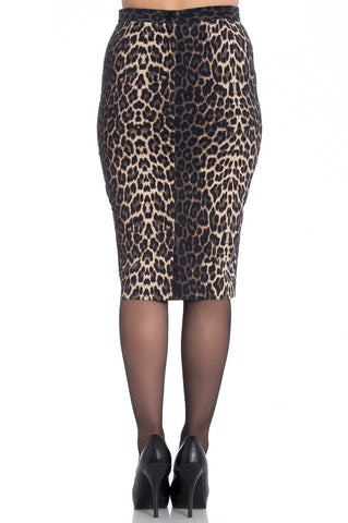 Hell Bunny - Panthera Pencil Skirt