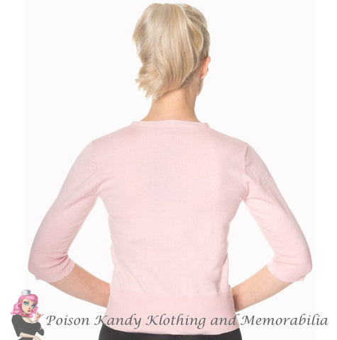 Banned Clothing - Ladies Cardi Face to Face Pink