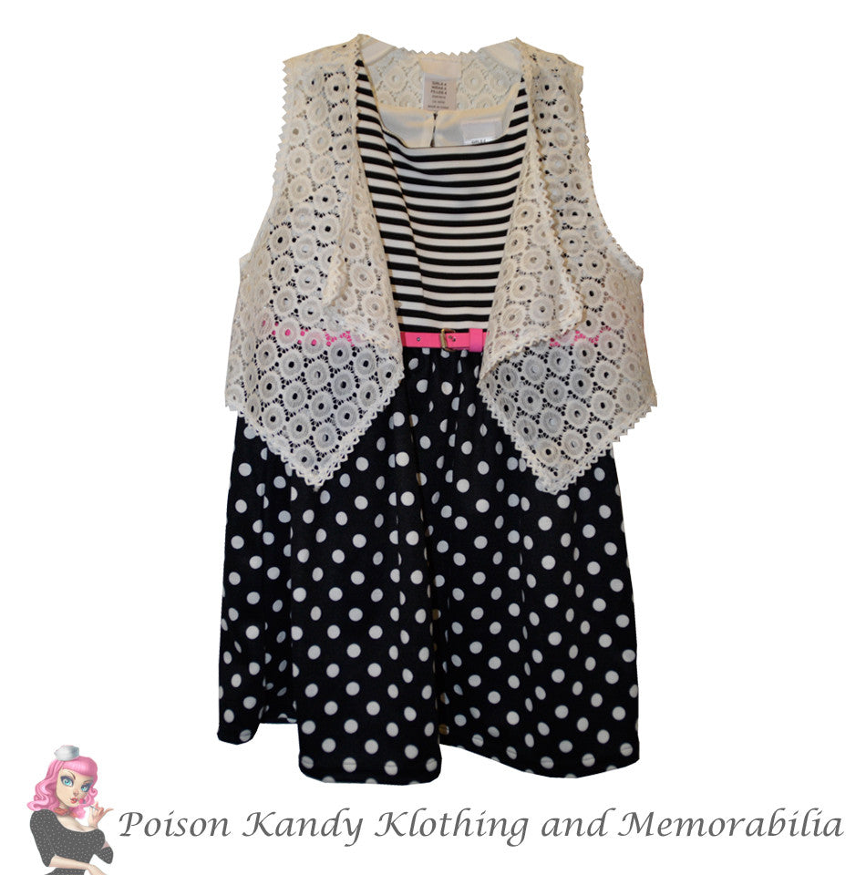 Miss Kandy Klothing - April Dress Black & White