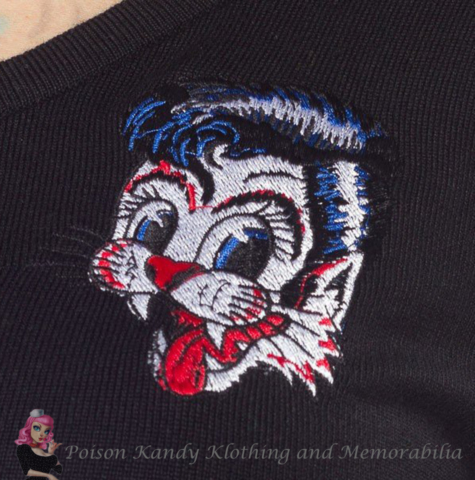 Sourpuss - Ladies Cardigan Stray Cats
