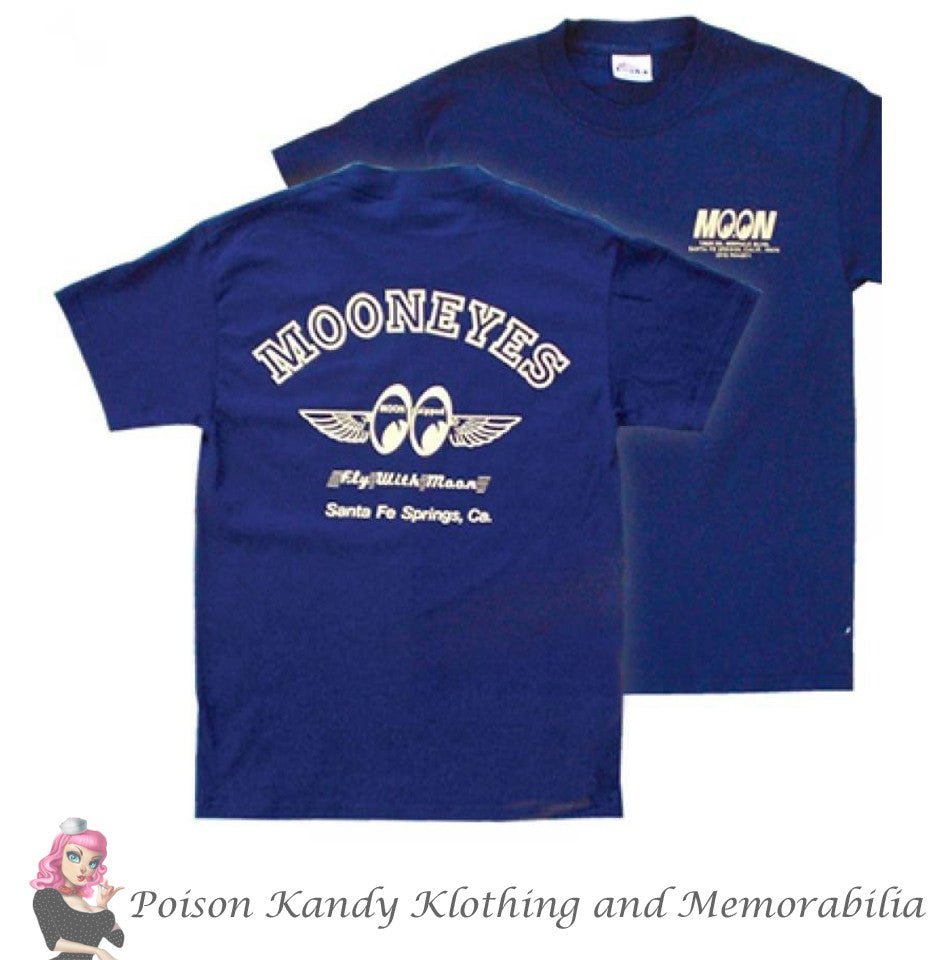 Mooneyes T-Shirt, Fly With Moon