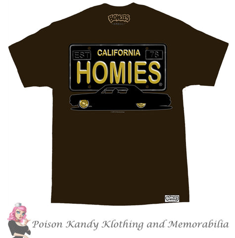 DGA Mens T Shirt - Homies Licence plate