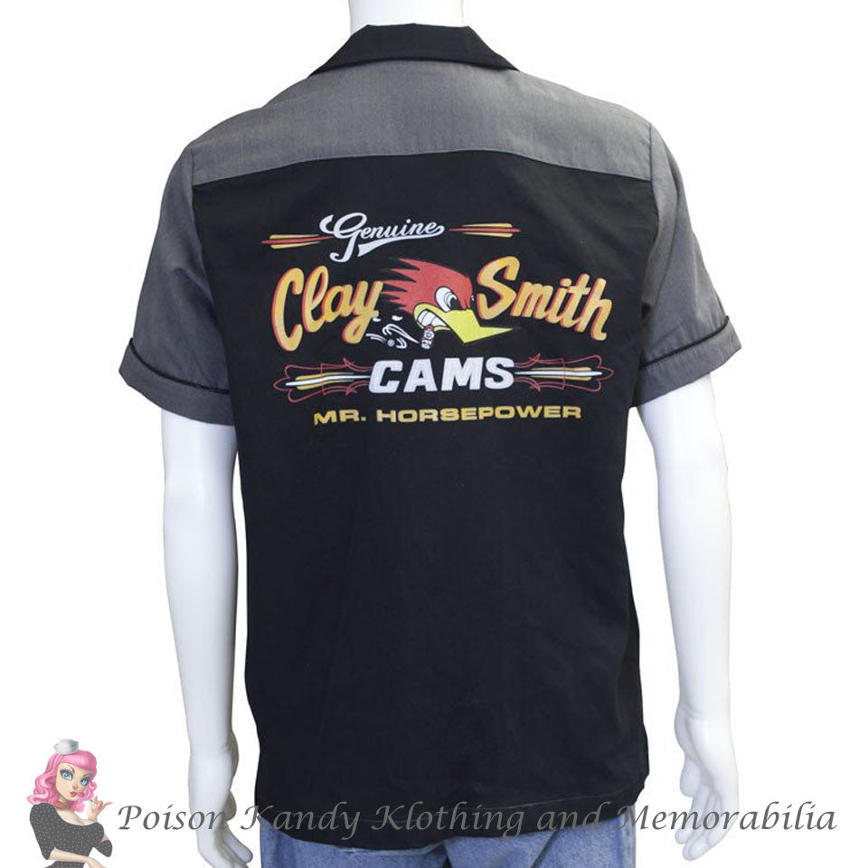 Mr Horsepower Button Up - Genuine Clay Smith Cams logo - MDS70