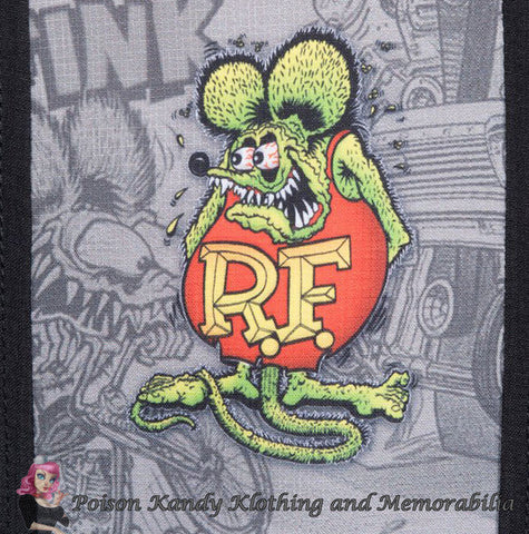 Mens Button up - Rat Fink Five Finks Button Up Shirt Black