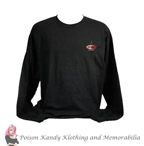 So-Cal Long Sleeve T-Shirt - Logo Pinstripe Long Sleeve Tee, Black