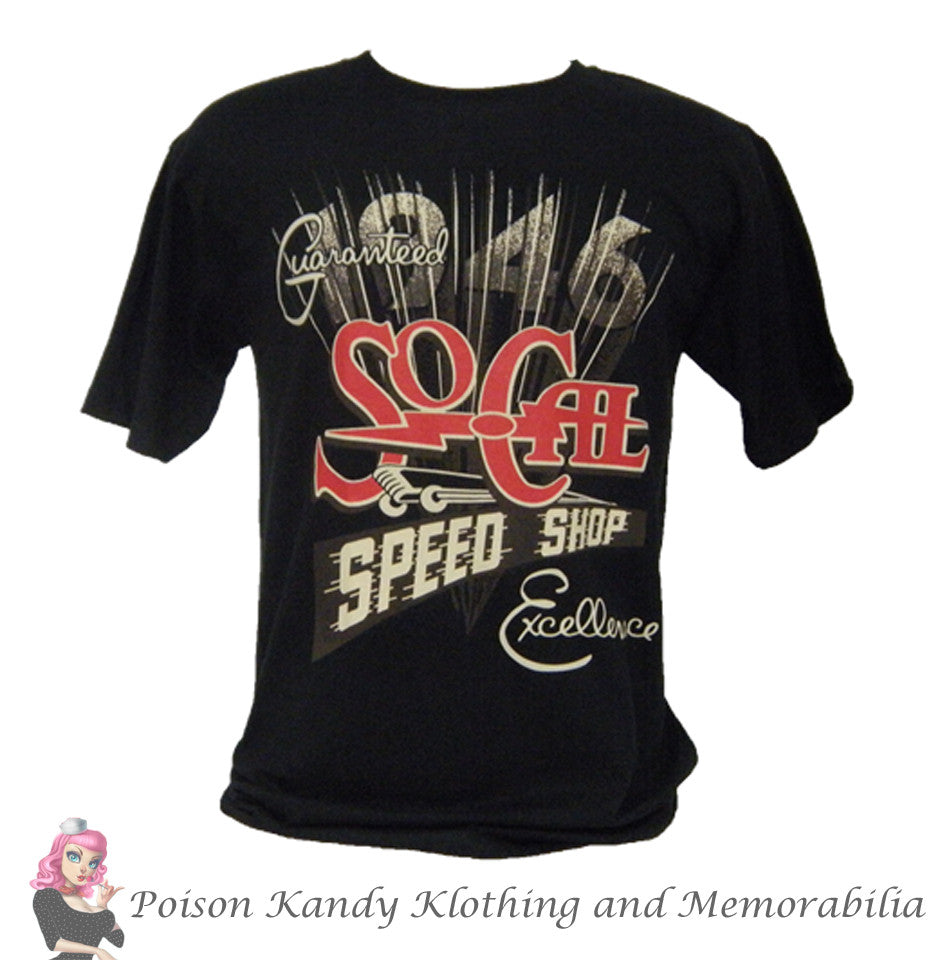 So-Cal T-Shirt, SO-CAL Speed Shop Guaranteed Excellence T-shirt, Black