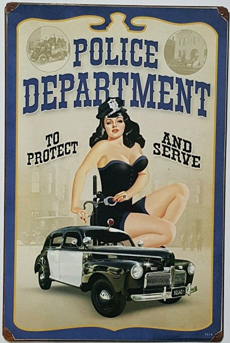 Police Department - Tin Sign