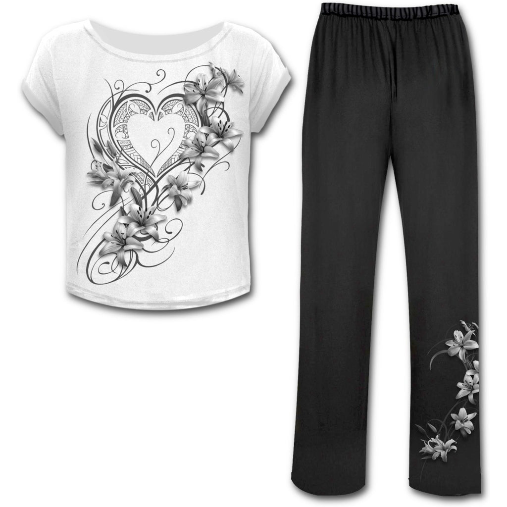 Pure of Heart Gothic Pyjama Set - Long Pants