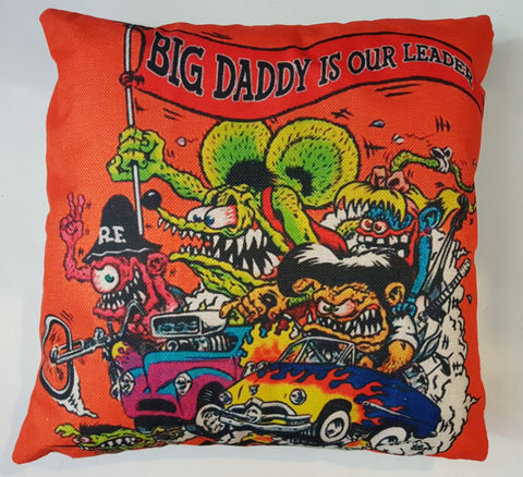 Cushion - Rat Fink Big Daddy Is Our Leader