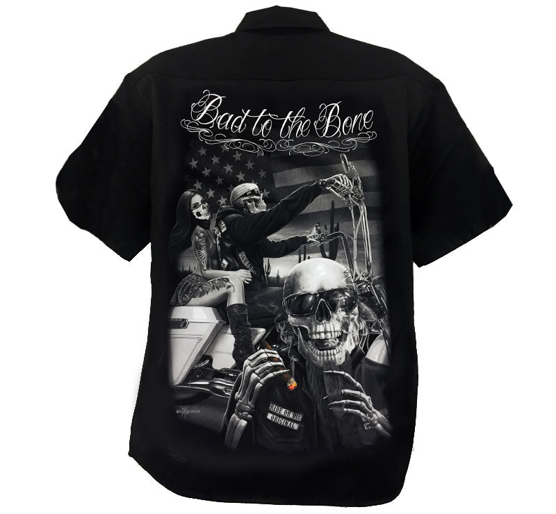 Button up Workshirt - DGA  R.O.D. Bad 2 The Bone Poison kandy klothing