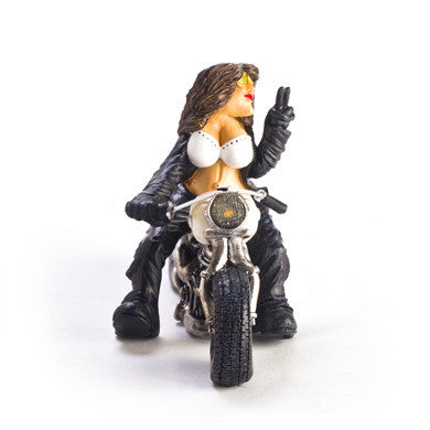Figurine - Biker Chic,  White Bike