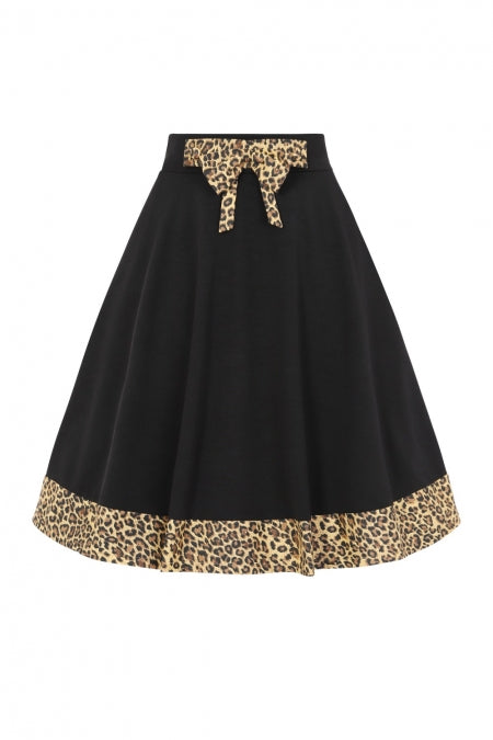 Banned Clothing - Rock N Roll Leopard Swing skirt|Poisonkandyklothing