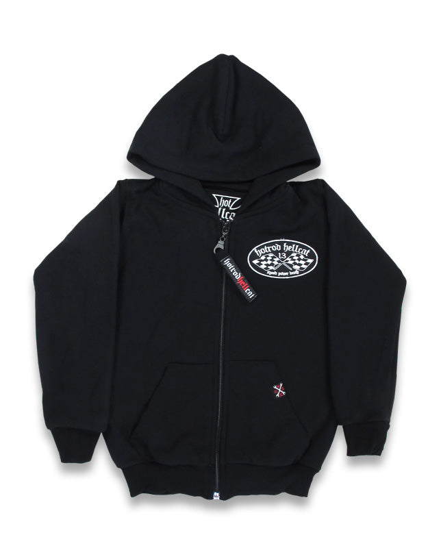 Hot Rod Hell Cat - Motor Oil Kids Hoodie Poison Kandy Klothing Australia