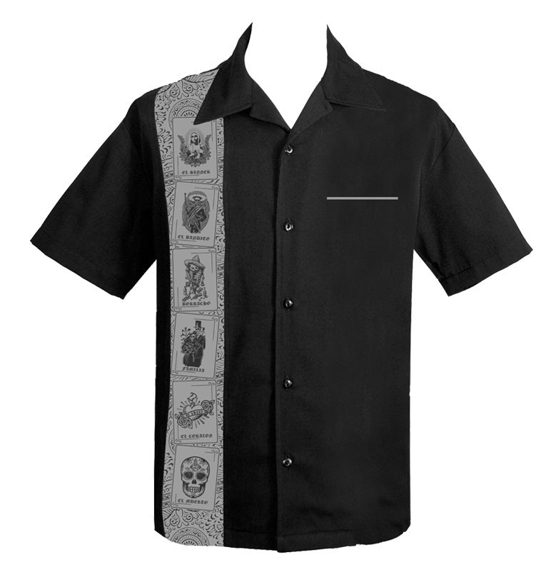 New * Steady Clothing - El Lottery Button Up in Black