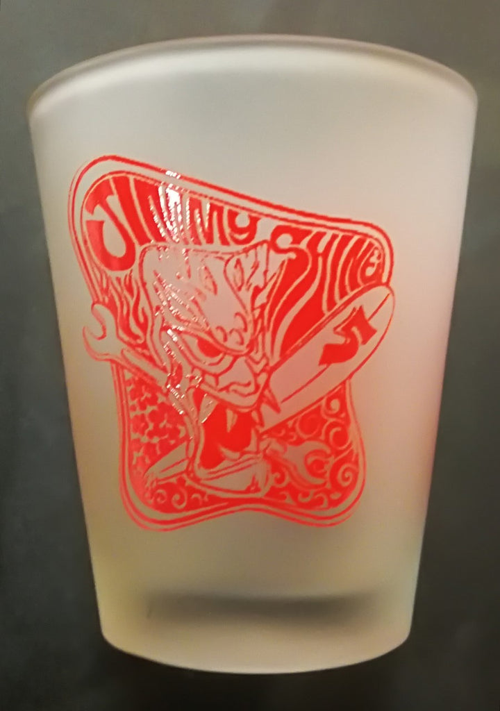 Shot Glasses - SO-CAL Jimmy Shine Tiki Design