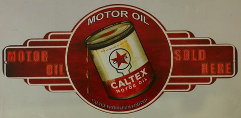 Caltex Motor Oil - Tin Sign