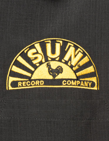 Steady Clothing - Sun Music Note  Dress shirt Black/Yellow
