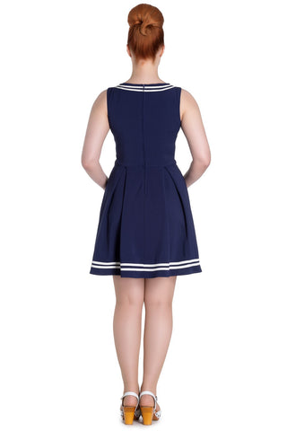 Hell Bunny Sailor Ruin Dress Navy SALE ITEM NO RETURN