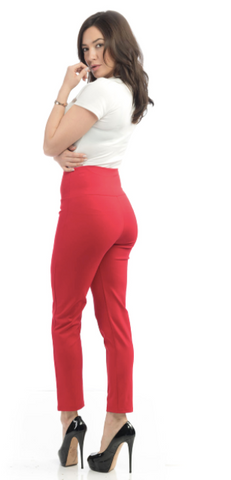 Steady Clothing - Audrey Cigarette Leggings - Red