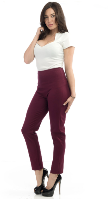 Steady Clothing - Audrey Cigarette Leggings - Ruby