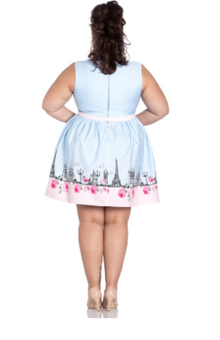 Hell Bunny - Paname Mini Dress Plus Size|Poisonkandyklothing