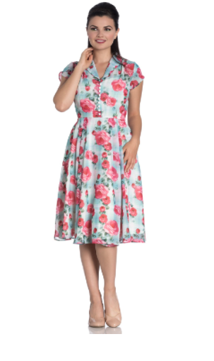 Hell Bunny Suzannah Dress Mint|Poisonkandyklothing
