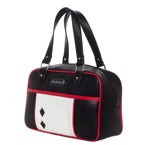 Sourpuss Mod BLock Ladies Handbag Blk|Poisonkandyklothing