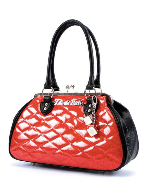 Lux De Ville Sin City Kiss Lock Sparkle Red|Poisonkandyklothing