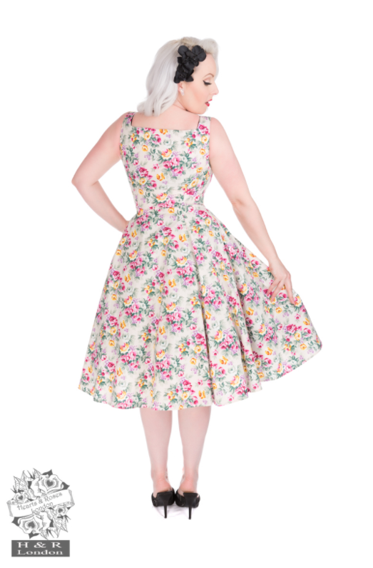 Hearts & Roses Lilac Posy Floral Swing Dress|Poisonkandyklothing