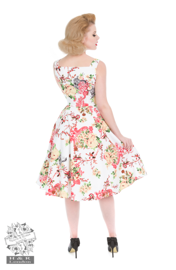 Hearts & Roses Vintage Paradise Swing Dress|Poisonkandyklothing