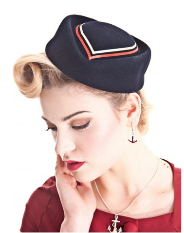 Collectif Lorena Nautical Hat Navy|Poisonkandyklothing