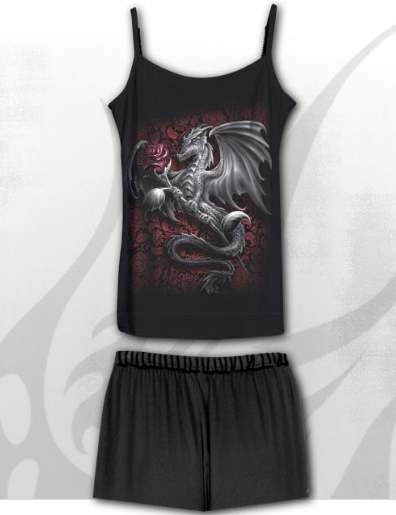 Wyvern Gothic Pyjama Set - Short Pants|Poisonkandyklothing