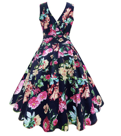 Ladies Floral Summer Fiona Dress|Poisonkandyklothing