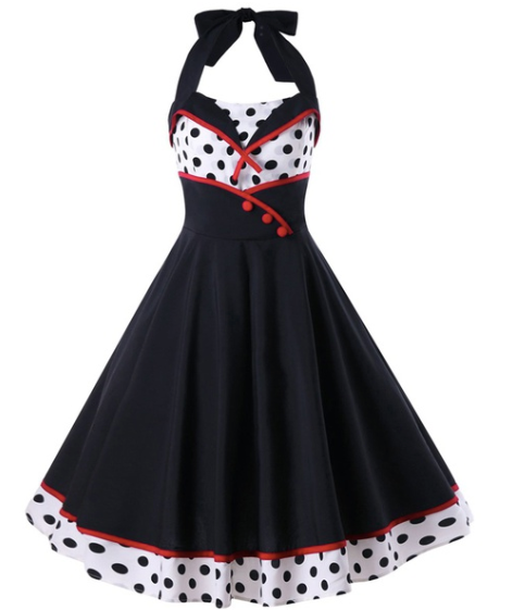 Doris Halterneck 50's dress|Poisonkandyklothing